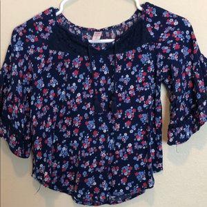 Justice floral blouse
